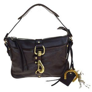 Chloe Kerala Horse Charm Logos Hand Bag Leather